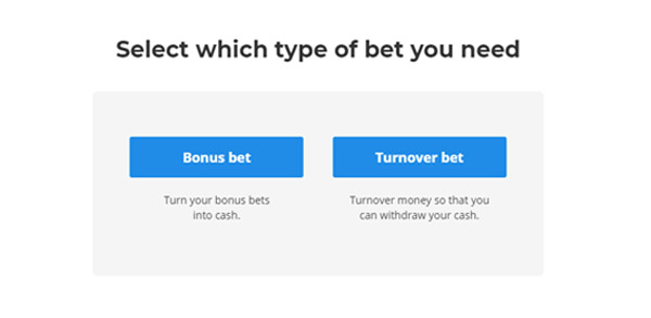 Bet Finder - Type of Bet